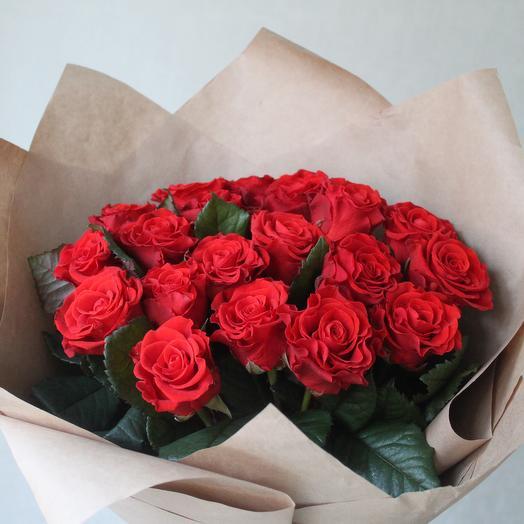 Букет из роз Эль Торо 19 шт Букет роз Букет с розами Алые розы