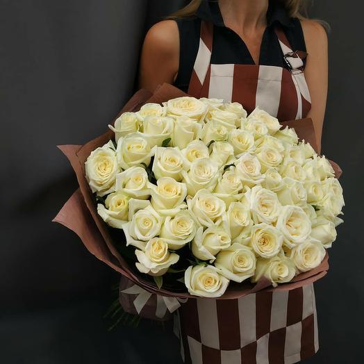 """Букет""""51 белая роза 70см"""""""