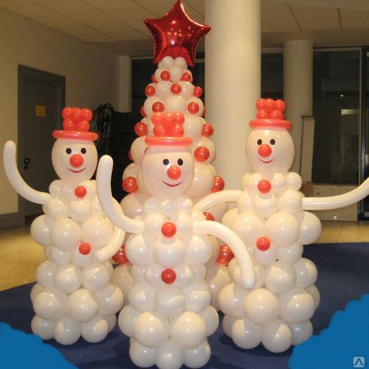 Снеговики из воздушных шаров 1 шт