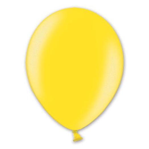 """Шар с гелием 12""""/30 см желтый металлик"""