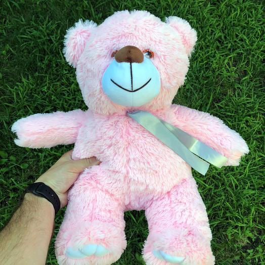 Плюшевий ведмедик 50 см рожевий