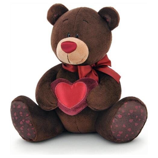 Мягкая игрушка Мишка Чоко с сердцем 15 см