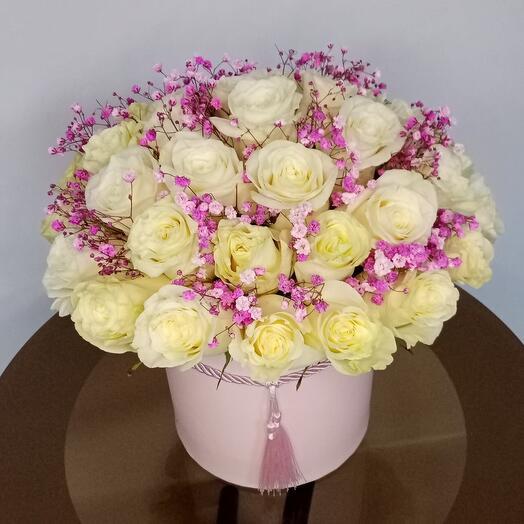 "Цветы в коробке ""LUXURY"""
