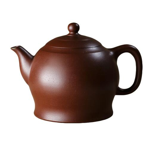 мастеровой чайник ручной работы, коричневая и чёрная глина, 220 мл, Тайвань 1 шт