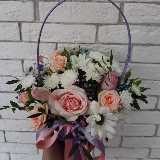 Корзина с цветами 21