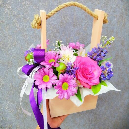 Ящик с цветами 🌺