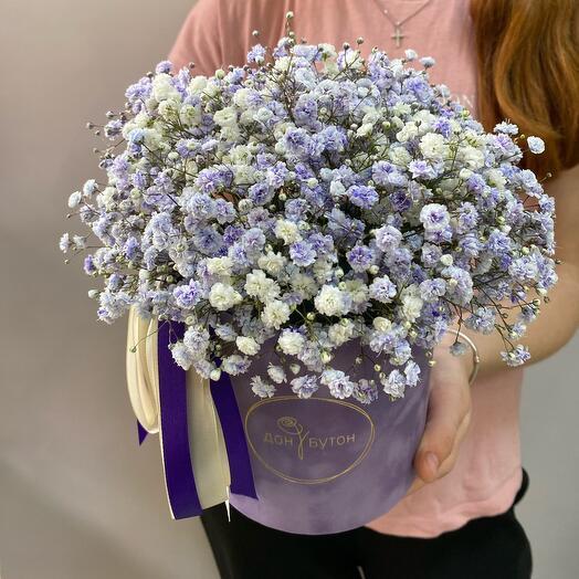 Цветы в коробке «Виолет»