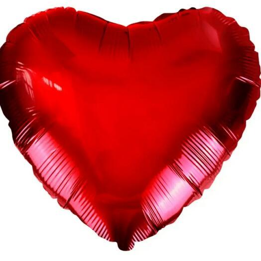 Красное сердце (воздушный шар)