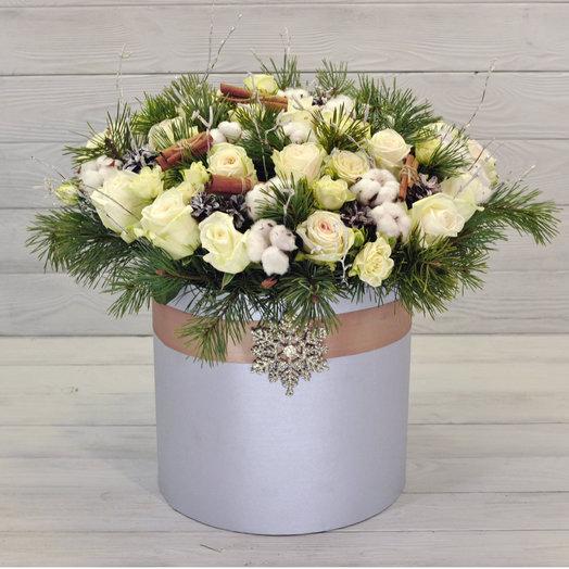 Коробка Снежная королева: букеты цветов на заказ Flowwow