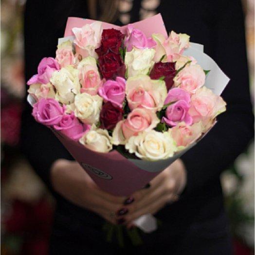 Букет роз Нежный микс