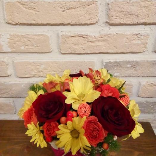 Осеннее тепло: букеты цветов на заказ Flowwow