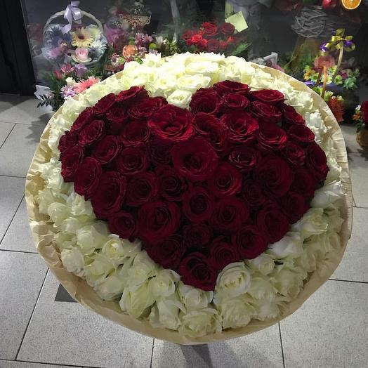 Любимое сердце: букеты цветов на заказ Flowwow