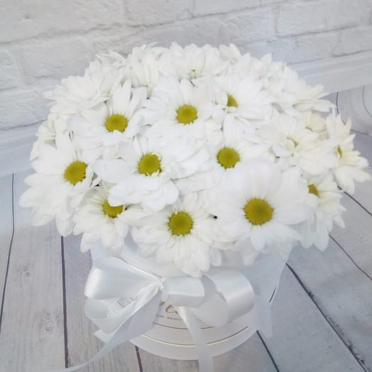 Box with chrysanthemums
