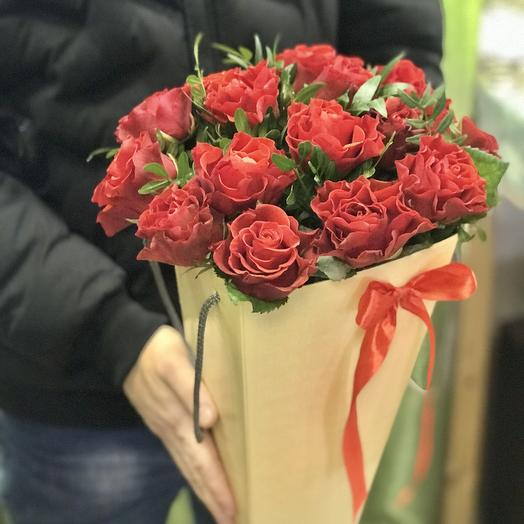 Конус из 15 роз эльторо: букеты цветов на заказ Flowwow