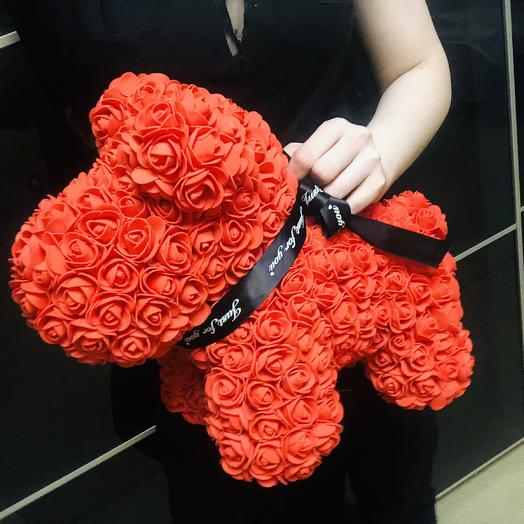 Эксклюзив! Собачка из Роз: букеты цветов на заказ Flowwow