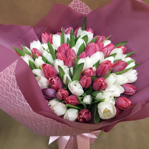 101 тюльпан: букеты цветов на заказ Flowwow