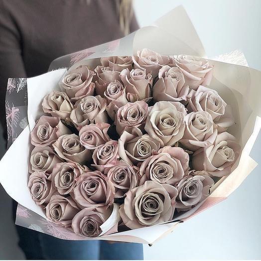 Тёплый бархат: букеты цветов на заказ Flowwow