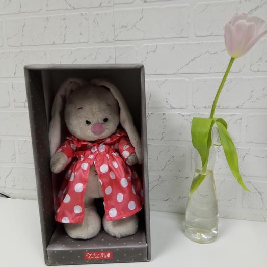 Зайка Ми в плащике: букеты цветов на заказ Flowwow
