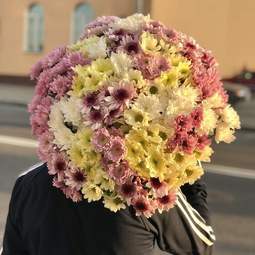 Большой букет хризантем микс: букеты цветов на заказ Flowwow