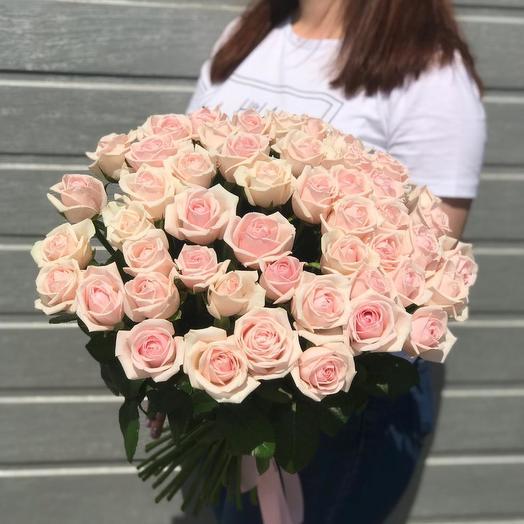 """Букет из 51 розы """"Французкий десерт"""""""