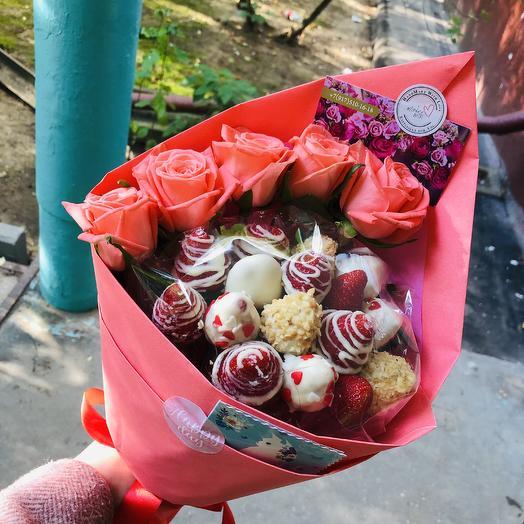 Клубничка 🍓: букеты цветов на заказ Flowwow