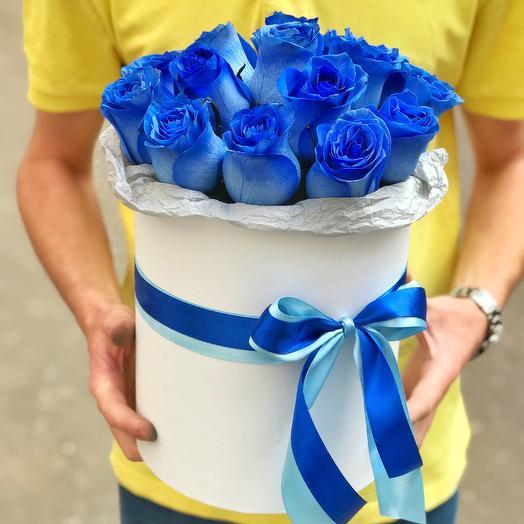 Синие розы в коробочке