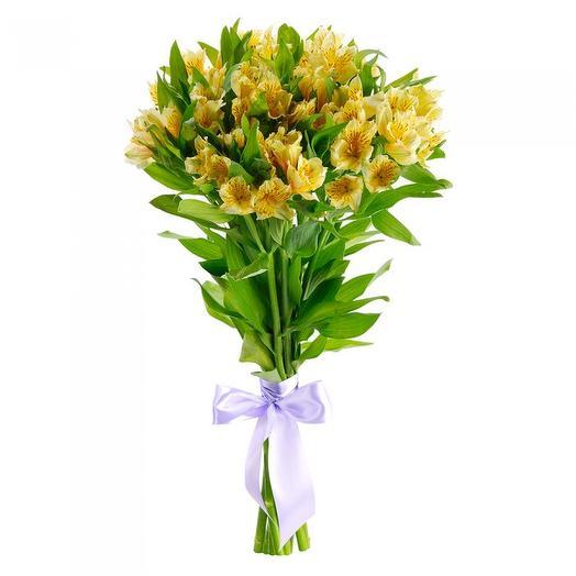 """Букет альстромерий """"Лимончелло"""": букеты цветов на заказ Flowwow"""
