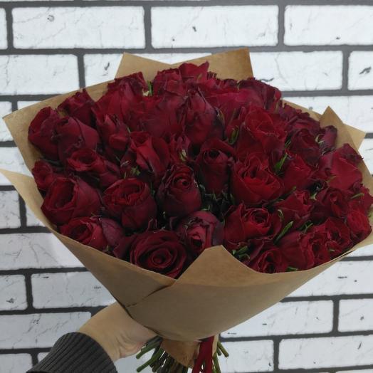 Букет из 51розы: букеты цветов на заказ Flowwow