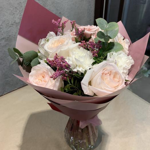 Букет с ароматной английской розой: букеты цветов на заказ Flowwow