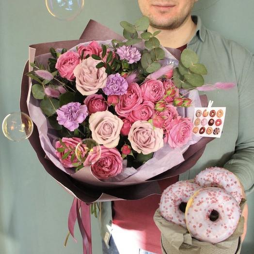 Черничный пончик: букеты цветов на заказ Flowwow