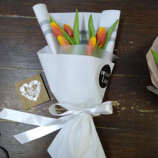 Мини букет тюльпан