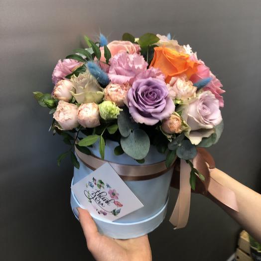 Коробочка с розами большая