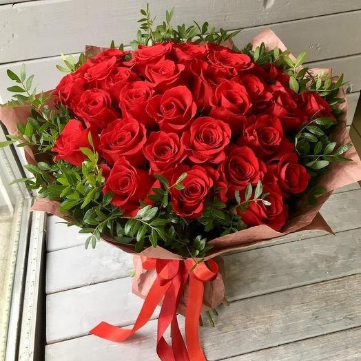 Авторский букет из роз: букеты цветов на заказ Flowwow