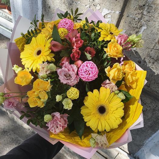 """Букет с герберой """"Солнечный день"""": букеты цветов на заказ Flowwow"""