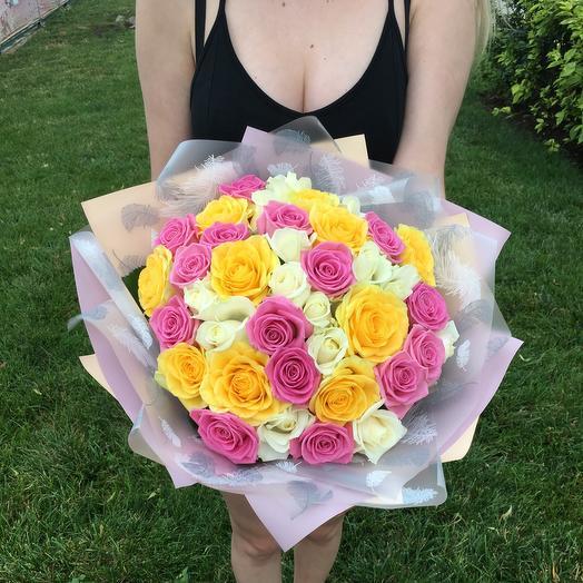 Букет «Солнечный» из 39 роз