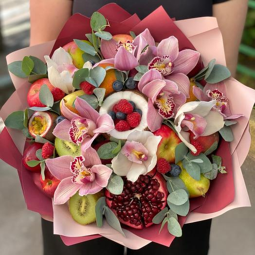 Фруктовый букет «Орхидея»: букеты цветов на заказ Flowwow