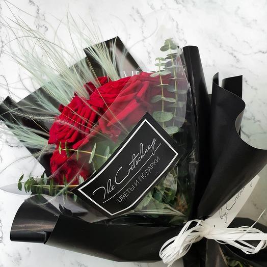 """Букет """"Розы с эвкалиптом"""""""