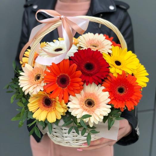 Basket of gerberas thinking of you