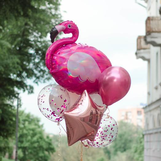 Охапка с фламинго