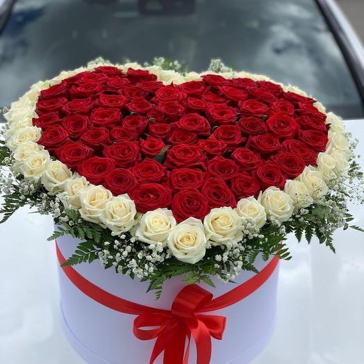 Цветы в коробке Для Любимой из 101 розы