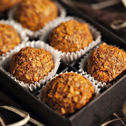 Шоколадные трюфель с карамелью