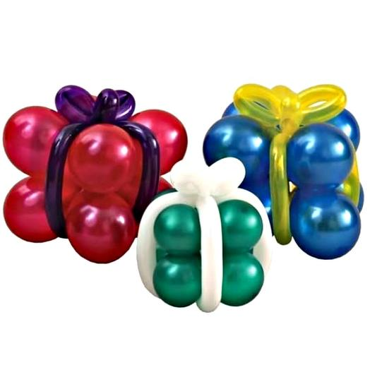 Подарок из воздушных шаров. Набор подарочков