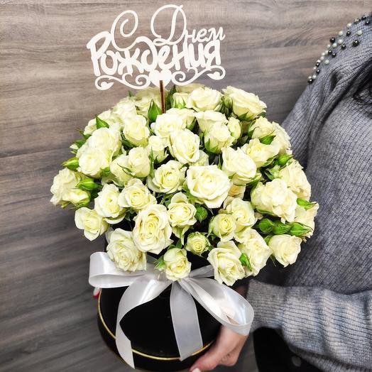 ✅ Prestige XL роза в цилиндре кустовая  белая