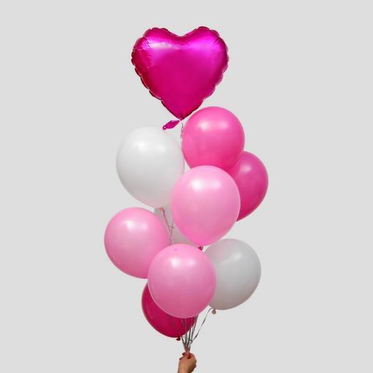Букет шаров «Любовь» с гелием