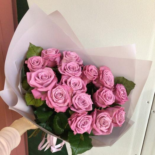 Моно из 15 нежных роз