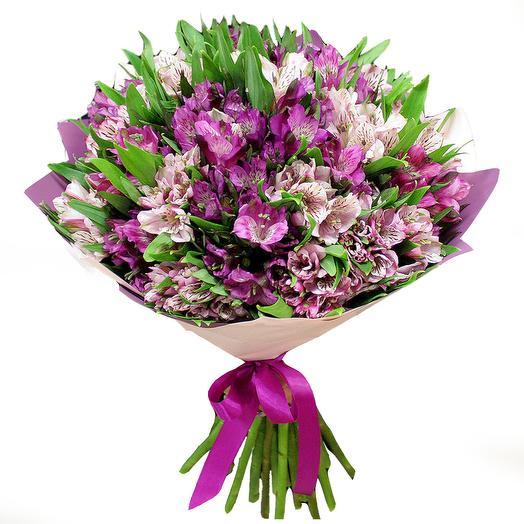 21 Фиолетовая Альстромерия в Крафте