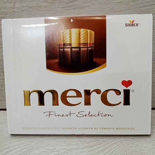 Набор шоколадных конфет МЕРСИ