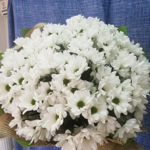 Монобукет из нежнейших хризантем-ромашек