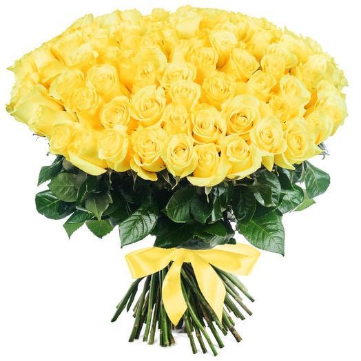 Букет из 101 желтой розы (50см)