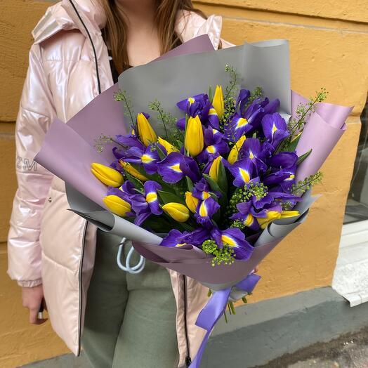 Букет Тюльпаны и Ирисы